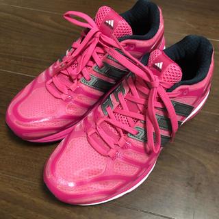 adidas - アディダス adidas ジム 靴 シューズ 23.5 美品 ピンク