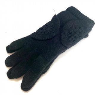 クロエ(Chloe)の新品 レディース 黒 ニット 手袋 ウール ナイロン (手袋)