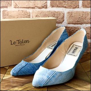 ルタロン(Le Talon)のLe Talon× U.C TILE FABRICS|デニム ヒール 24.5(ハイヒール/パンプス)