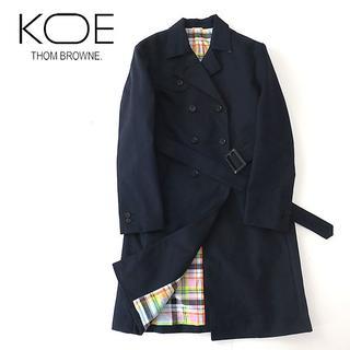 トムブラウン(THOM BROWNE)の美品 KOE×THOM BROWNE トムブラウン ボンディング トレンチコート(トレンチコート)
