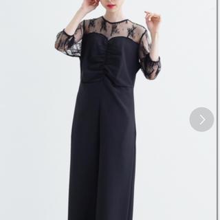 メルロー(merlot)のフラワービスチェ風オールインワン(その他ドレス)