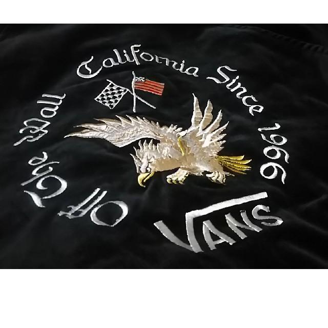 VANS(ヴァンズ)の 定23760円名作別珍×鷹刺繍!VANS新品スカジャン希少黒S!    メンズのジャケット/アウター(スカジャン)の商品写真