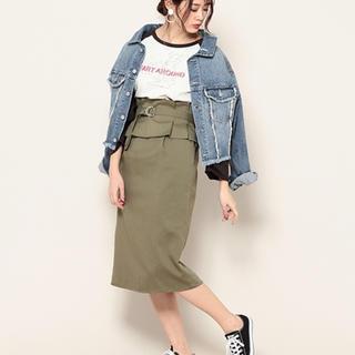 ページボーイ(PAGEBOY)のコルセットベルトナロースカート(ひざ丈スカート)