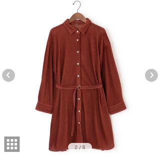 Mila Owen - 今季商品 ベルト付きマテリアルシャツ