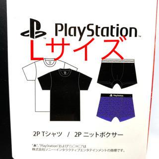 しまむら - しまむら プレイステーション 2P Tシャツ 2P ニットボクサー 未開封品