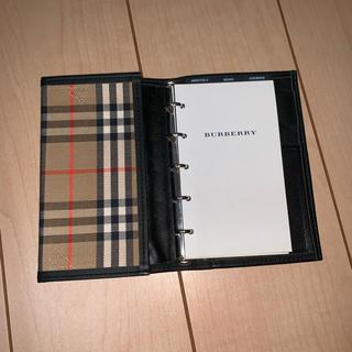 バーバリー(BURBERRY)のBURBERRY LONDON チェック柄 手帳 メモ帳(ノート/メモ帳/ふせん)