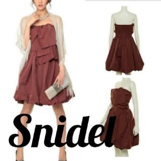 スナイデル(snidel)のSnidel スナイデル スラブタフタワンピース ドレス(ミディアムドレス)