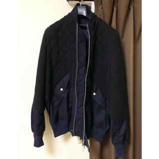 sacai - Sacai ドッキングブルゾン キルティングボンバージャケット ニット 16AW