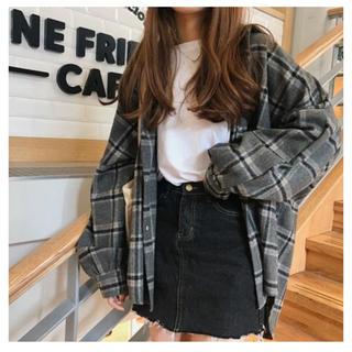 GOGOSING - 韓国 ファッション 厚手チェック シャツ ジャケット