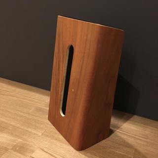 ムジルシリョウヒン(MUJI (無印良品))の山崎実業 RINシリーズティッシュケース ブラウン (ティッシュボックス)