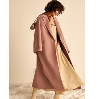 ミラオーウェン(Mila Owen)のミラオーウェン 今季大人気 ロングコート ピンク 新品 (ロングコート)