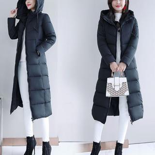 中綿ロングコート お洒落な細身コートです(ロングコート)