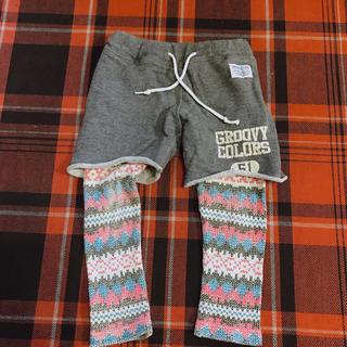 デニムダンガリー(DENIM DUNGAREE)のグルービーカラーズ 重ね着風パンツ 90(パンツ/スパッツ)