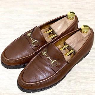グッチ(Gucci)のGUCCI 38.5 ホースビットローファー レディース メンズ レザー 本革(ローファー/革靴)