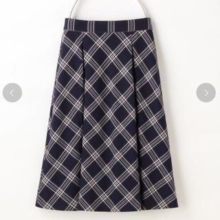 ハニーズ(HONEYS)のハニーズ チェック柄 フレア スカート L(ひざ丈スカート)