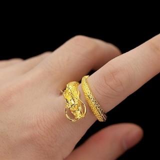 ドラゴンリング 竜モチーフ ゴールドドラゴン(リング(指輪))