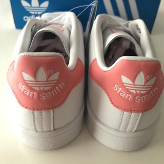 アディダス(adidas)の【定価12100円】adidas スタンスミス 白×ピンク 24cm(スニーカー)