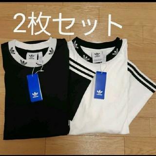 adidas - 2枚組 リブ柄 Tシャツ adidas originals