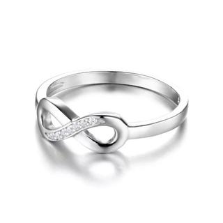 《リング》スターリングシルバー925 インフィニティ 18号 ホワイトデー(リング(指輪))