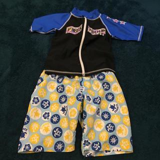 イオン(AEON)の古着 子供服 120 水着 ラッシュガード セット(水着)