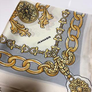 ジーナシス(JEANASIS)のジーナシス 大判スカーフ スカーフ チェーン柄スカーフ(バンダナ/スカーフ)
