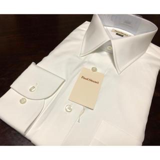 Paul Stuart - ポールスチュアート 白無地ワイシャツ  41-82 綿100%