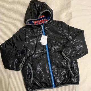 しまむら - 【新品】男児用 フード付きジャンパー ブラック130