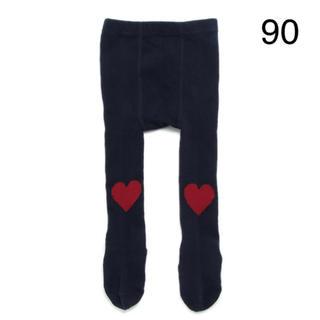 プティマイン(petit main)のプティマイン タイツ ハート 90 新品(靴下/タイツ)
