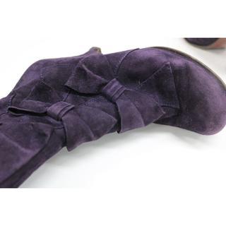 チエミハラ(CHIE MIHARA)のチエミハラ ショート丈のリボンブーツ39(ブーツ)