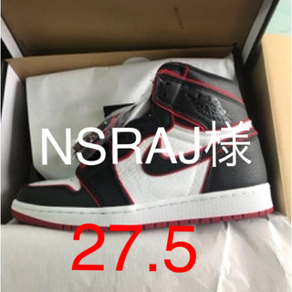 ナイキ(NIKE)のAIR JORDAN 1 HI OG BLACK/RED(スニーカー)