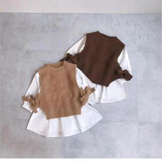 プティマイン(petit main)のプティマイン ニットビスチェ トップス(Tシャツ/カットソー)