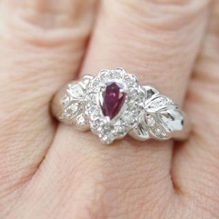 トクトクジュエリー ルビー ダイヤモンド プラチナ 約5.3g リング(リング(指輪))