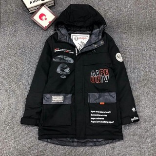 A BATHING APE - AAPE ジャケット ロングコート ゆるコーデ 男女通用 黒