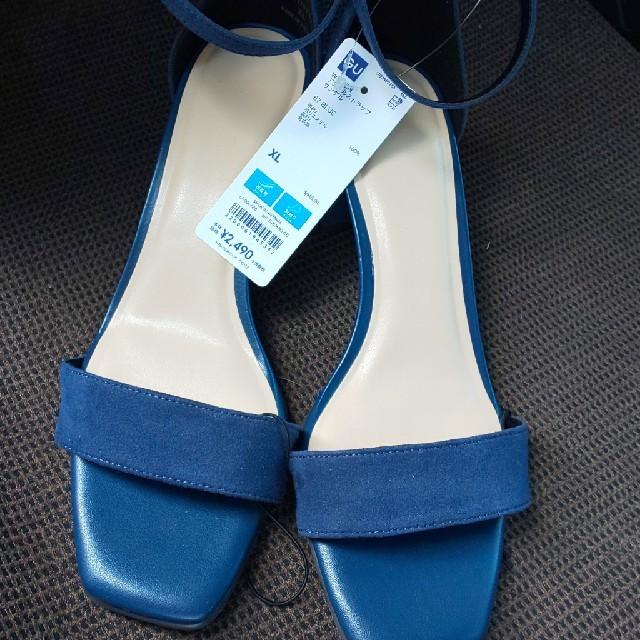 GU(ジーユー)の値下げGU アンクルストラップサンダル レディースの靴/シューズ(ハイヒール/パンプス)の商品写真