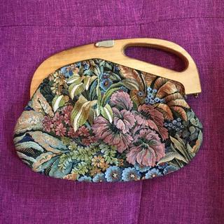 ロキエ(Lochie)の🆕vintage wood handle bag🍪(ハンドバッグ)