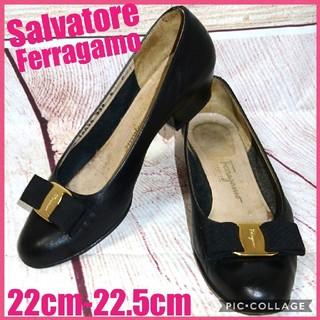 サルヴァトーレフェラガモ(Salvatore Ferragamo)のSalvatore Ferragamo ヴァラリボン パンプス(ハイヒール/パンプス)