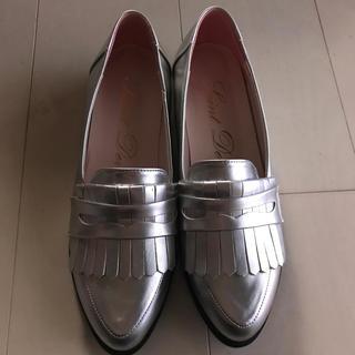 シルバー ローファー(ローファー/革靴)