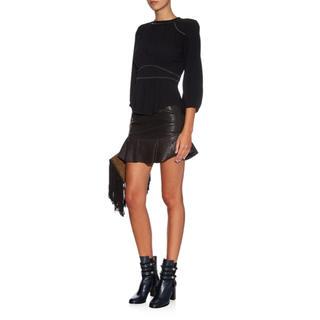 イザベルマラン(Isabel Marant)のイザベルマラン  レザーフリルスカート(ミニスカート)