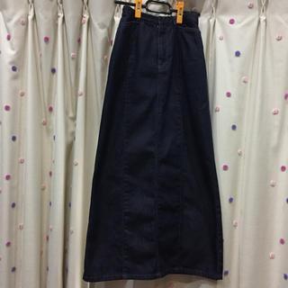 コムサイズム(COMME CA ISM)のコムサ COMME CA タイト ロングスカート スリット デニム Sサイズ(ロングスカート)