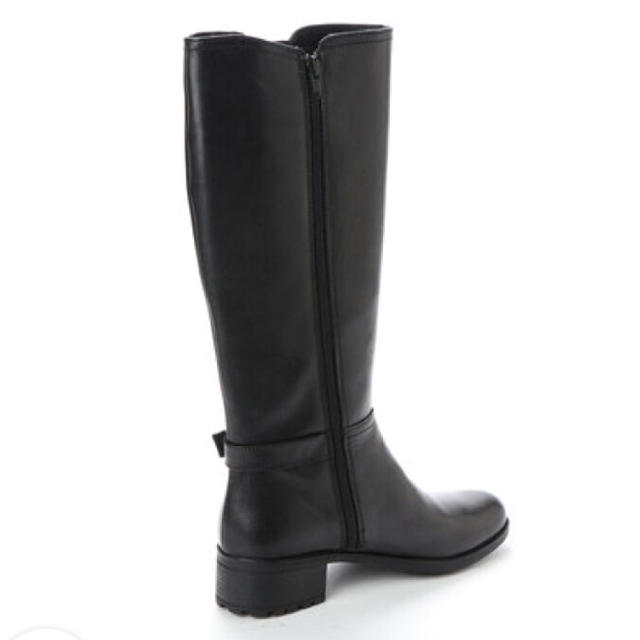 elegance卑弥呼(エレガンスヒミコ)のサイドゴアロングブーツ 本革 大きいサイズ  黒 レディースの靴/シューズ(ブーツ)の商品写真
