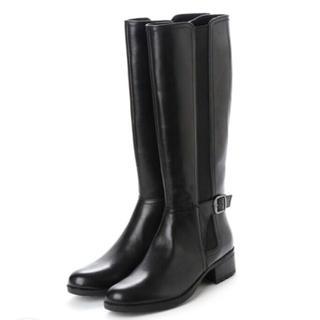 elegance卑弥呼 - サイドゴアロングブーツ 本革 大きいサイズ  黒