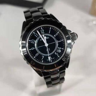 CHANEL - シャネル 腕時計 j12 メンズ用 ブラック 38mm