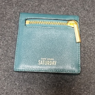 KATE SPADE SATURDAY - KATE SPADE SATURDAY 濃緑 三つ折財布