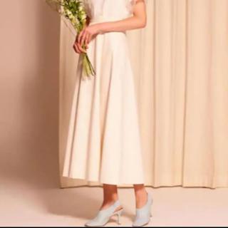 ルシェルブルー(LE CIEL BLEU)の美品 ネップコットンマキシフレアスカート(ロングスカート)
