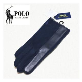ポロラルフローレン(POLO RALPH LAUREN)の新品【ポロラルフローレン】羊革切替 ウールカシミア混 手袋(手袋)
