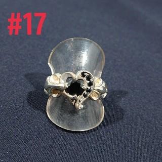 silver925 フレアハートring#17(リング(指輪))