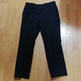 タケオキクチ(TAKEO KIKUCHI)のタケオキクチ 黒色スーツパンツサイズ3 綿素材(スラックス)