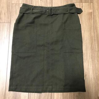 グリーンレーベルリラクシング(green label relaxing)のgreen label relaxing カーキ スカート(ひざ丈スカート)