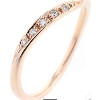 ヨンドシー(4℃)の美品 4°C k10 ダイヤ リング 10号 ✨ 指輪 10金(リング(指輪))