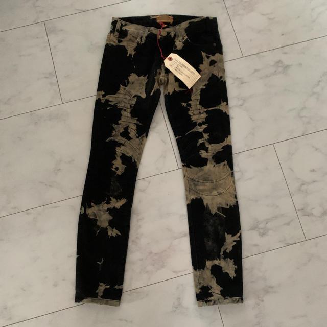 Current Elliott(カレントエリオット)のブリーチデニム GUCCI風 メンズのパンツ(デニム/ジーンズ)の商品写真